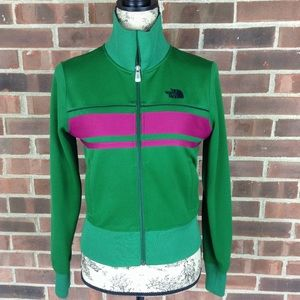 Like new North Face A5 series green purple jacket